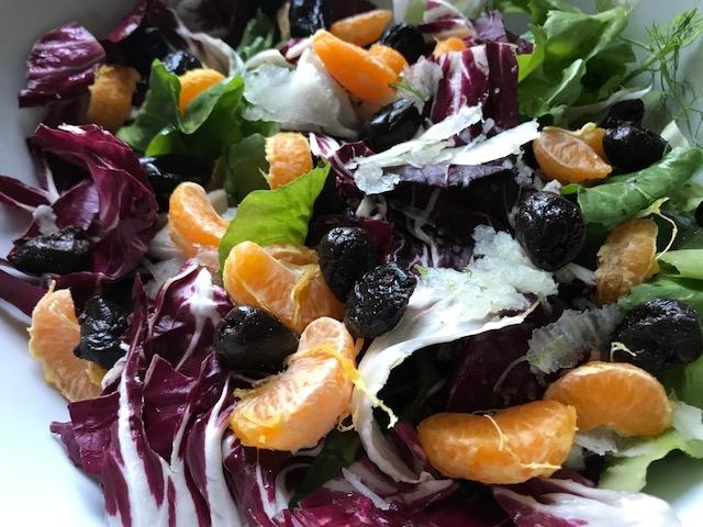 Receta de ensalada de radicchio y clementina de Beewellness