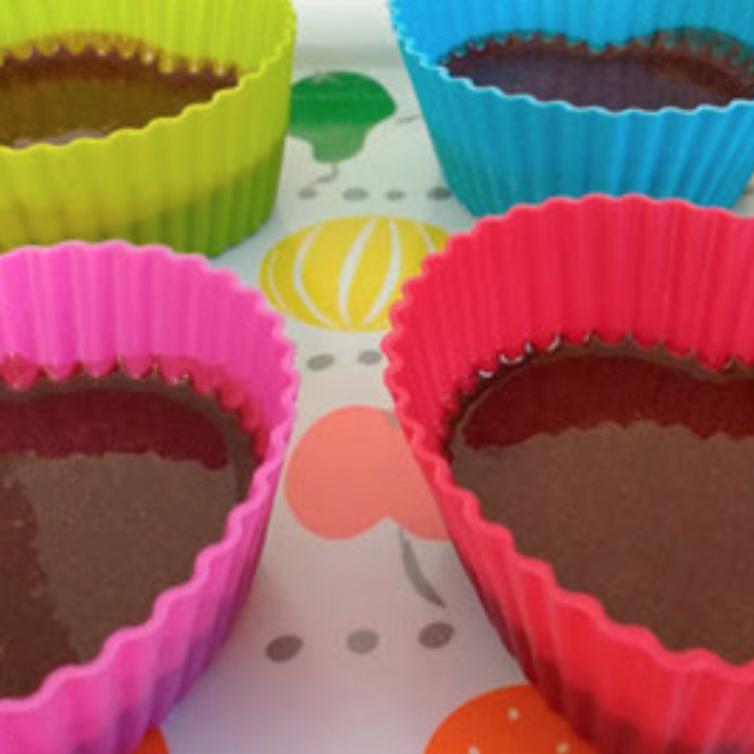 Bombones helados de chocolate de Beewellness